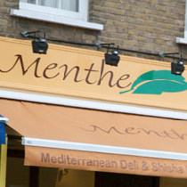 Menthe cafe and shisha lounge corporate logo used on the interior designer's plan proposal